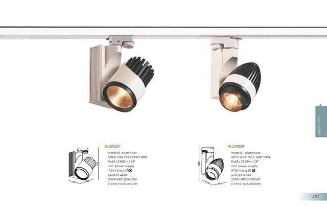 Світлодіодний світильник трековий 20 Вт 3000К