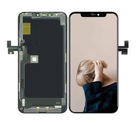 Дисплей для телефона Apple iPhone 11 Pro Max с сенсорным стеклом (Черный) Оригинал