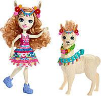 Игровой набор Enchantimals Большие друзья кукла Лама Ллуэлла и Флиси FRH42