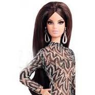 Коллекционная кукла Барби Сияние города Кружевное платье - City Shine Barbie Doll - Lace Dress (CFP38), фото 2