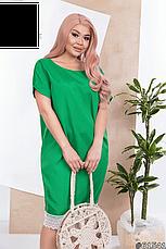 Платье женское яркое зеленое размеры: 50-60, фото 3