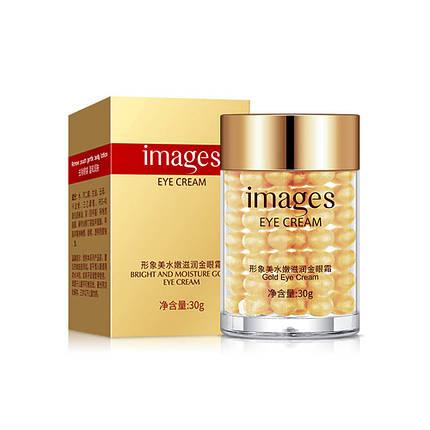 Крем для кожи вокруг глаз IMAGES Bright and Moisture Gold Eye Cream золотой 30 г, фото 2