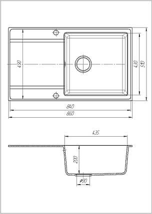 Кухонна мийка Galati Jorum 86 Piesok (301), фото 2