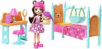 Игровой набор с куклой Энчантималс Enchantimals Спальня Мишки Брен и ее питомец FRH46