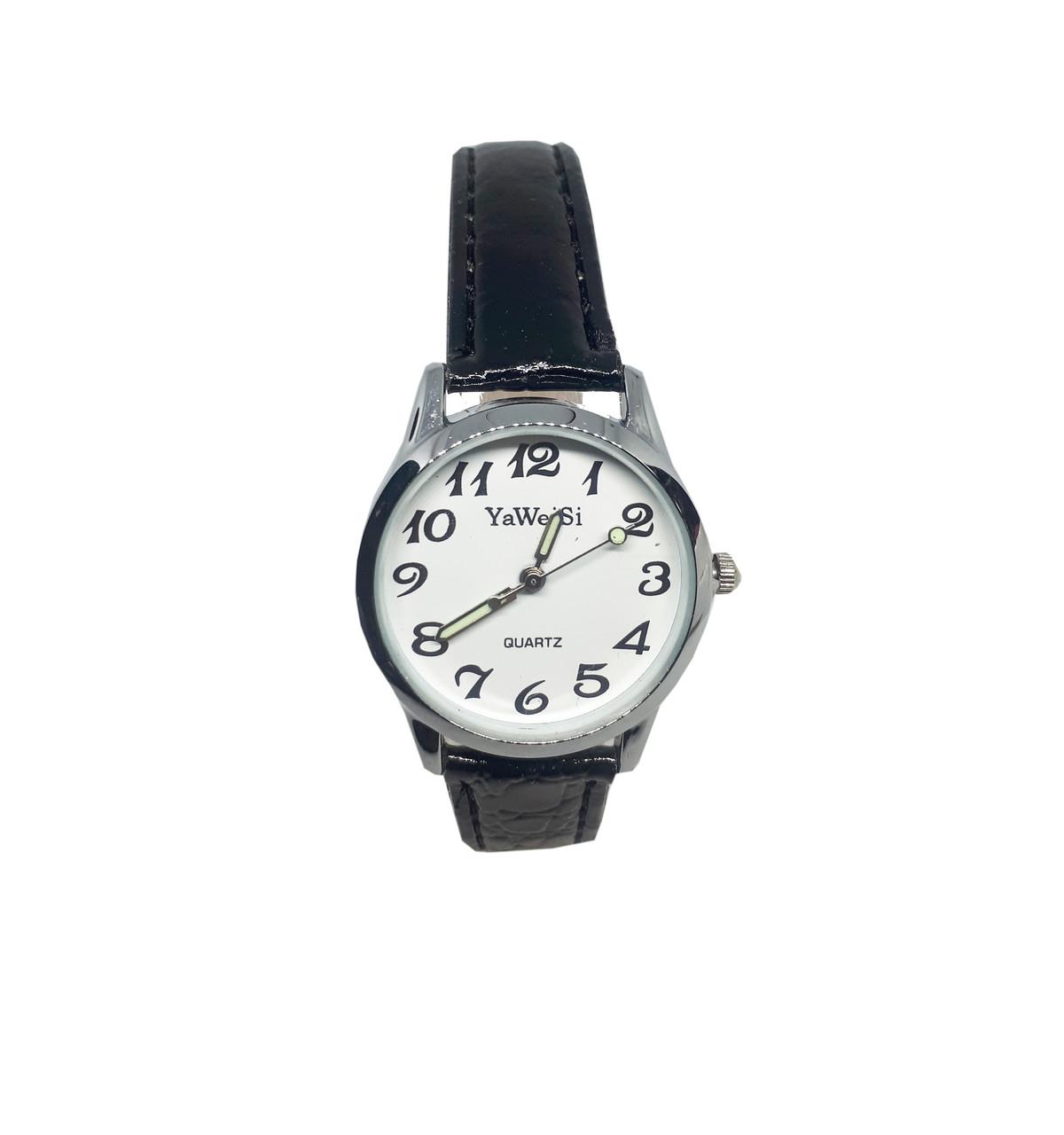 Часы кварцевые Yiweisi Silver женские белые на черном ремешке опт