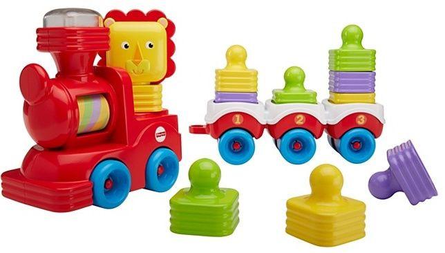 Розвиваюча іграшка Fisher Price Поїзд-пірамідка Веселий Левеня DRG33