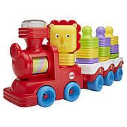 Розвиваюча іграшка Fisher Price Поїзд-пірамідка Веселий Левеня DRG33, фото 2