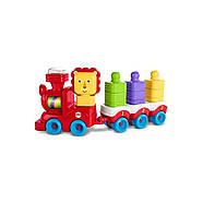 Розвиваюча іграшка Fisher Price Поїзд-пірамідка Веселий Левеня DRG33, фото 3