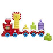 Розвиваюча іграшка Fisher Price Поїзд-пірамідка Веселий Левеня DRG33, фото 4