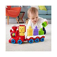 Розвиваюча іграшка Fisher Price Поїзд-пірамідка Веселий Левеня DRG33, фото 5