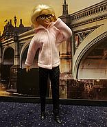 Набор одежды для Барби Игра с модой - Пальтишко, легинсы, шапка, шалик, фото 5