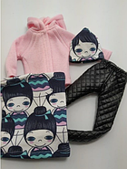 Набор одежды для Барби Игра с модой - Пальтишко, легинсы, шапка, шалик, фото 7