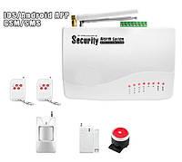 Сигнализация GSM 10А (комлект с датчиком движения и датчиком открытия)