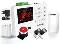 Комплект сигнализации GSM Alarm System GSM40A plus Белый (комлпект с безантенными датчиками эконом)