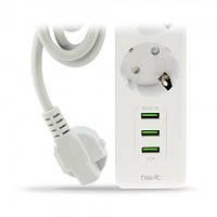 Сетевой фильтр - удлинитель HAVIT HV-SP8813 3 USB ,3 розетки (комлпект стандарт)