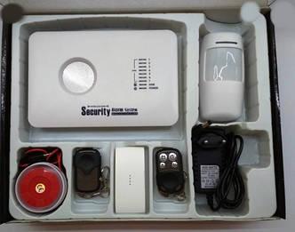 GSM охранная сигнализация Kerui G 10-C G10C для гаража, квартиры, дачи (комплект безантенные датчики)