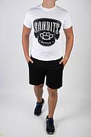 Футболка +шорты. Стильный мужской летний костюм., фото 1