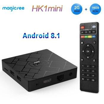 Смарт тв бокс HK1 mini. Смарт ТВ приставка HK1 2G 16G S905W Android 7.1 (комлпект с пультом)