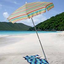 Пляжный зонт с наклоном 1,8 м Ромашка ( Зонт торговый 1,8 метра с наклоном и серебром ), фото 3