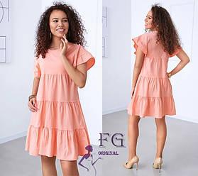 Летнее короткое свободное платье