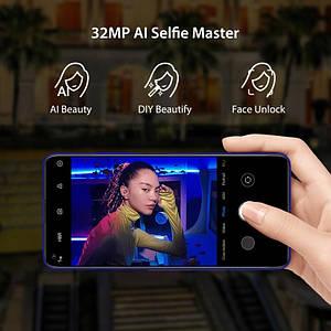 Смартфон UMIDIGI F2 синего цвета 6/128Gb NFC. Телефон UMIDIGI F2 (супер телефон)