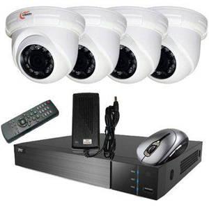 Комплект видеонагляду/видеонаблюдения на 4 камеры (компелкт стандарт купол)