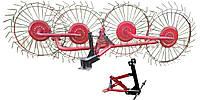 Грабли для мотоблока 4 колеса усиленные