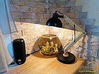 Стильная настольная лампа с деревянным каркасом под лампу Е 27 в белом цвете Диаша&1029/T WH