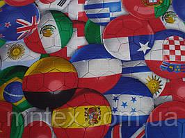 Ткань вафельная ширина 150 см, Футбол