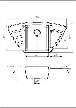Кухонна мийка Galati Jorum 98B Seda (601), фото 2