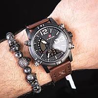Мужские наручные часы Naviforce DasBoost Dark-Brown, фото 1