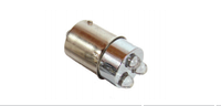 Диодные лампы в габарит, стоп, поворот, цоколь T15 BA15S (3 LED). Белый цвет.