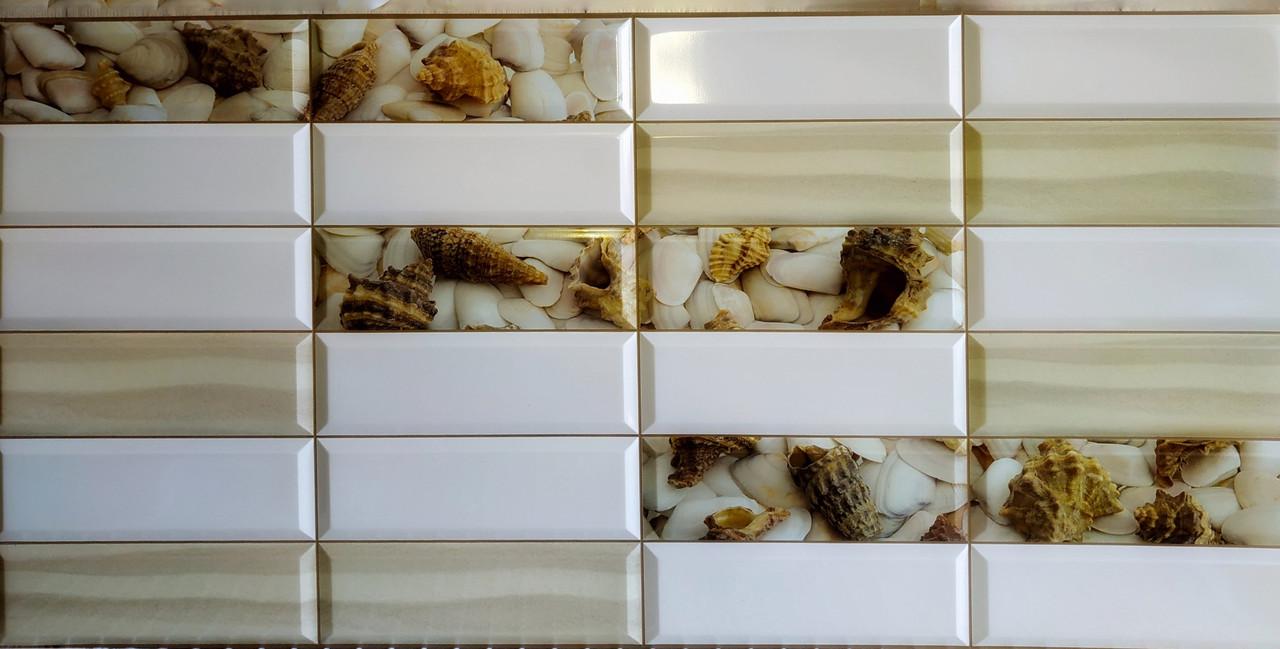 Пластикова листова стінова панель ПВХ Грейс Grace Піщаний берег 0,3мм 955*480 мм