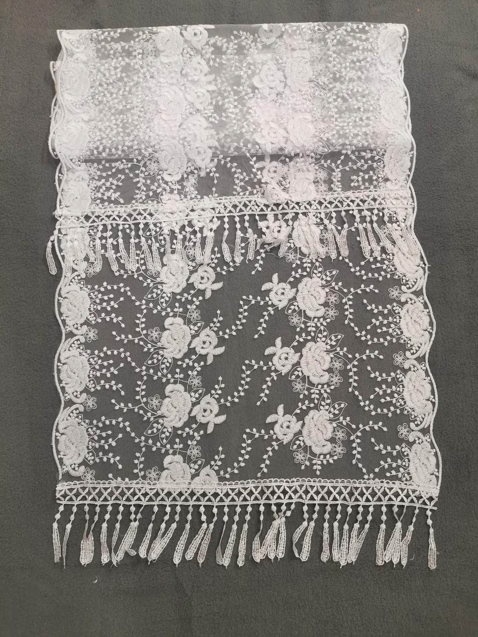 Свадебный шарф для невесты Кs 9