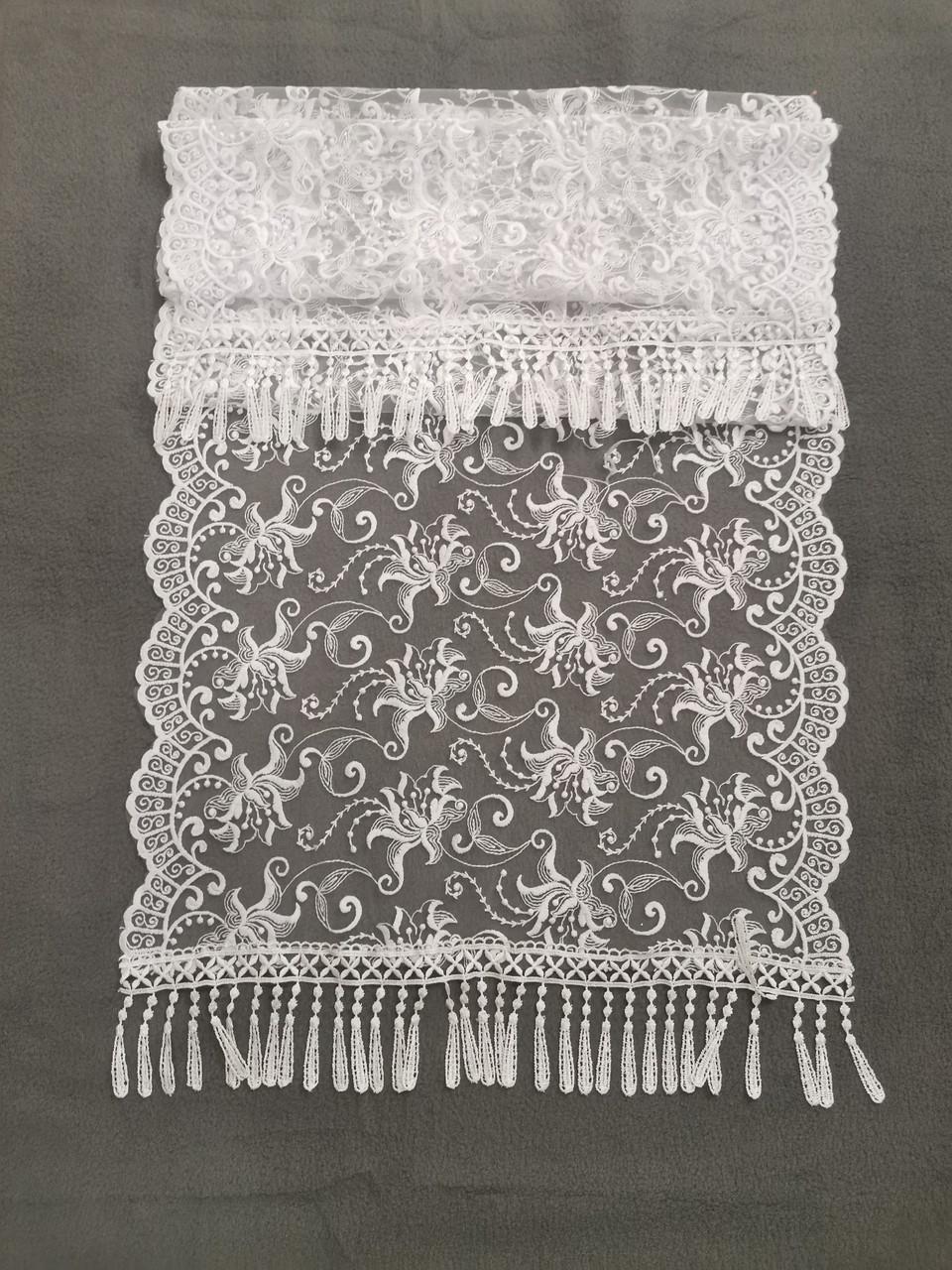 Свадебный шарф для невесты Кs 8