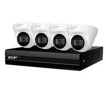 Комплект видеонаблюдения Dahua EZIP-KIT/NVR1B04HC-4P/E/4-T1B20 (2Мп)