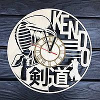 Тематические деревянные часы на стену «Кэндо», фото 1