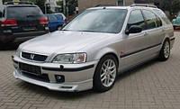 Дефлекторы на стекла Хонда Цивик универсал вставные / Дефлекторы Honda Civic 5d 1995-2000 год