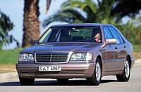 Дефлекторы на стекла Мерседес 140 кузов, кабан накладные / Ветровики Mercedes Benz S-class 140 до 1998 года