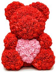 """Мишка из роз""""Teddy Bear"""" 40 см красный"""
