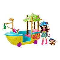 Игровой набор Энчантималс Enchantimals лодка из Джунглолеса обезьянки Мерит GFN58
