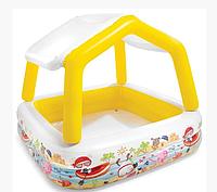 Детский бассейн надувной Intex 57470 NP, со съёмной крышей, размер 157-122см, 282л.От 3-х лет
