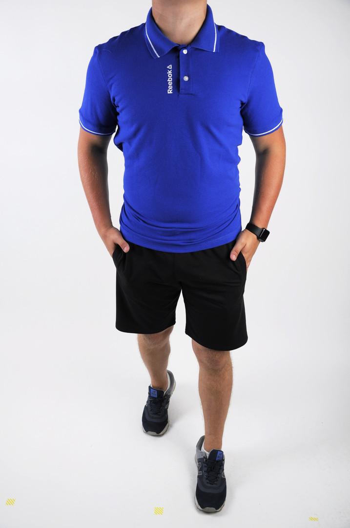 Футболка мужская поло+шорты Reebok.Стильный летний комплект.