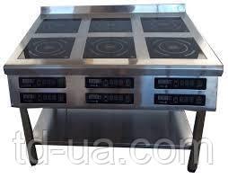 Плита индукционная Tehma 6ти конфорочная 2,8 кВт напольная