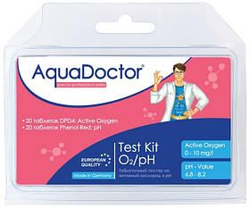 Таблеточный тестер AquaDoctor Test Kit O2/pH (20 тестов)