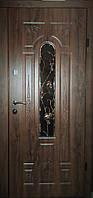Входная дверь с ковкой бронзовый дуб