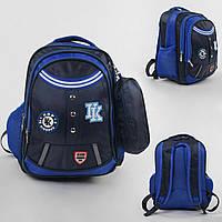 Рюкзак (портфель) детский школьный 43510, 1 отделение, 4 кармана, мягкая спинка, пенал