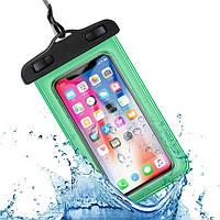 Водонепроницаемый чехол / кейс для телефона универсальный Alitek Green