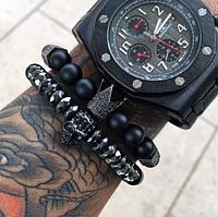 Мужской каменный браслет mod.Сommander комплект браслетов
