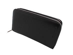 Кожаный кошелек-барсетка MARCO COVERNA, черный